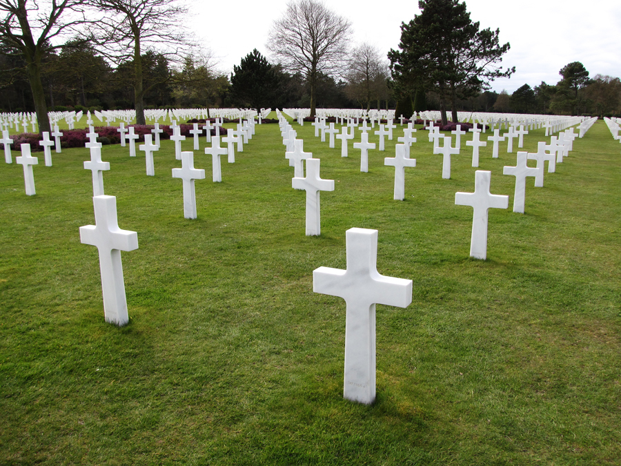 The cemetary at Omaha Beach is American soil that is maintained by the American taxpayers...a fitting memorial to those brave souls who fought and died here.